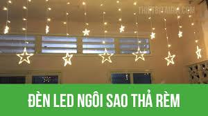 Đèn Led ngôi sao thả rèm - Đèn trang trí noel - YouTube