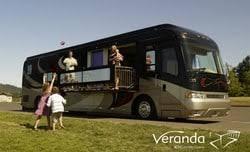 veranda coach has a slideout balcony