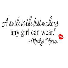 Dkx Pvc Smile Makeup Marilyn Monroe Quote Vinyl Wall Stickers Art Mural Home Decor Decal Diy Removable Wallpaper Home Decorations As The Picture Iwnlvzva 93