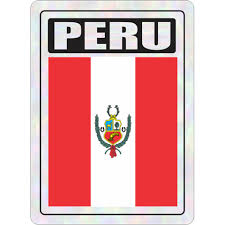 Peru Prismatic Hologram Car Decal Sticker Flags N Gadgets