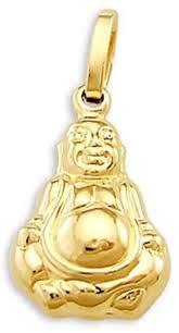 buddha pendant 14k yellow gold buddhist