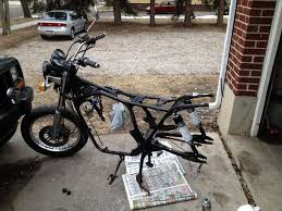 spray paint for a motorcycle frame