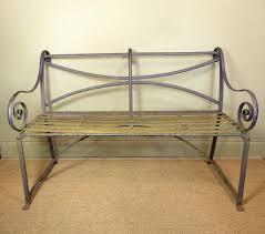 19th c wrought iron bench furniture
