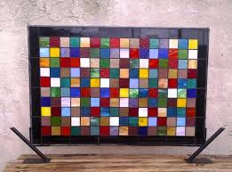 colorful grill stained glass window