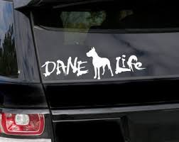 Great Dane Decal Etsy