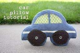 Free Pattern Super Cute Car Shaped Pillow Pillow Tutorial Sewing Toys Animal Sewing Patterns