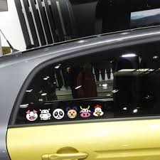 Animals Combination Panda Bear Chick Cartoon Decal Cute Funny Car Windows Stickers Cover Scratches For Ford Volkswagen Skoda Stickers Cover Car Windowsfunny Car Aliexpress