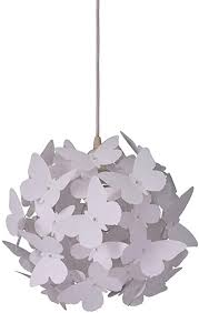 Topdeng Chandelier For Kids Room Girls Room Pendant Light With Plastic Butterfly Modern Decor Nightlight Hanging Lamp White Amazon Com