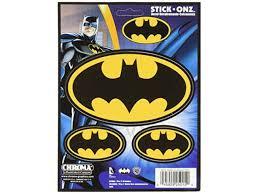 Chroma Black And Gold 25015 Batman Logo 3pc Stick Onz Decal Newegg Com