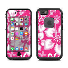 Skins For The Lifeproof Iphone 6 Case Lifeproof Case Not Included Hibiscus On Pink Flower Hawaii Tropic Diy Iphone Case Iphone Case Stickers Lifeproof Case