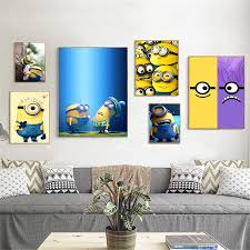 Cartoon Minions Cute Movie Posters And Prints Funny Home Decor Wall Pictures For Living Room Kids Room Decor Christmas Gift Painting Calligraphy Aliexpress