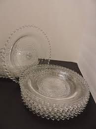 candlewick style glass plates set