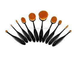 best makeup brushes set oval blending