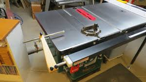 Grizzly G1023rlwx Retractable Saw Stop Build For A Shop Fox Fence Grizzly Table Saw Table Saw Woodworking Projects