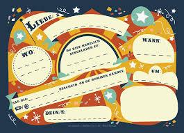 12 Tarjetas De Invitacion Para Cumpleanos Infantiles Del Circo