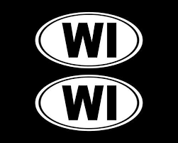 Oval Wi Decal Car Decal Oval Wisconsin Sticker Wisconsin Decal Laptop Sticker Oval Sticker Bumper Vinyl Decal Car Car Decals Oracal Vinyl Car Stickers