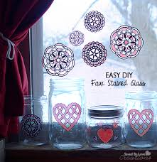 easy faux stained glass mason jars
