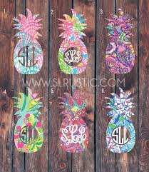Lilly Pulitzer Inspired Pineapple Monogram Decal Yeti Cooler Monogram Slrustic