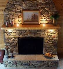 incredible fireplace stone work
