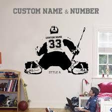 Personalized Hockey Goalie Wall Decal Hockey Bedroom Hockey Room Hockey Decor