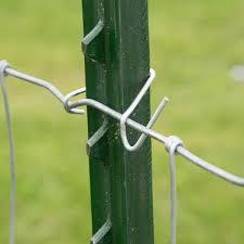 Everbilt Galvanized Steel Fence T Post Clips 25 Per Bag 901169beb The Home Depot