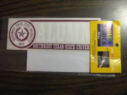 Southwest Texas State University Alumni Swtsu Window Car Decal 409394500