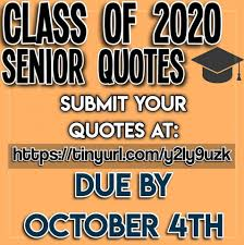 senior quotes due by oct th morse