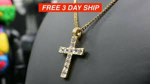 diamond accent cross pendant necklace
