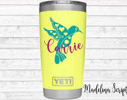 Bird Cup Decal Etsy