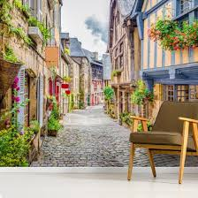 alley scene in an old town in europe