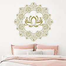 mandala yoga art wall decals vinyl