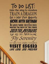 Geek To Do List Wall Decal Customizable Fantasy Geekery Etsy