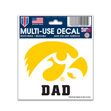 Wincraft Iowa Hawkeyes 3 X 4 Dad Car Decal