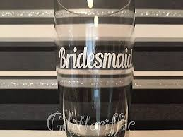 Bridesmaid X2 Vinyl Decal Stickers Glitter Wine Glass Wedding Diy Any Colour