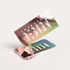 Metallic Sticker Printing High Quality Foil Stickers Uprinting