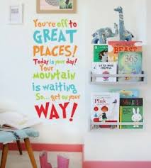 Oh The Places You Ll Go Dr Seuss Wall Quote Sticker Nursery Decal Kid Decor Ebay