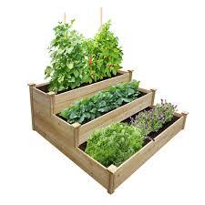Best Value 3 Tier Cedar Raised Garden Bed Planter 48 W X 48 L X 21 Greenes Fence Company