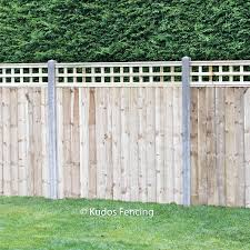 Trellis Top Closed Board Panels With Concrete Posts Uk Delivery