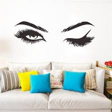 Creative Pretty Eyelashes Wall Sticker Room Decorations For Home Wallpaper Decals Sexy Stickers Buy At A Low Prices On Joom E Commerce Platform