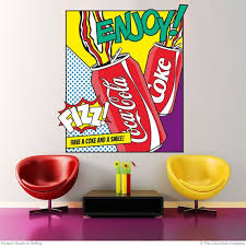 Coca Cola Enjoy Cans Pop Art Wall Decal Etsy