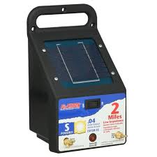 Fi Shock 2 Mile Solar Powered Electric Fence Energizer Esp2m Fs The Home Depot