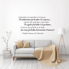 Stickers L Ostacolo Piu Grande Vinyl Wall Art Decal Teresa Quote Mural Art Living Room Home Decor Poster House Decoration Wall Stickers Aliexpress