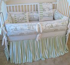 cottontail bunny toile baby crib