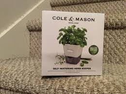 cole mason self watering indoor herb