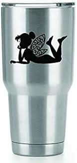 Amazon Com Tinkerbell Vinyl Decals Stickers 2 Pack Yeti Tumbler Cup Ozark Trail Rtic Orca Decals Only Cup Not Included 2 4 X 2 3 Inch Black Decals Kcd1239 Automotive