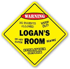 Amazon Com Signjoker Logan S Room Sign Kids Bedroom Decor Door Children S Name Boy Girl Gift Wall Plaque Decoration Home Kitchen