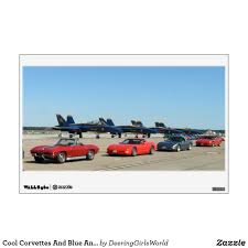 Cool Corvettes And Blue Angels Wall Decal Wall Decals Custom Wall Decal Cool Stickers