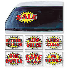 Static Cling Windshield Signs Car Window Clings Sid Savage