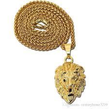 5 antique gold horses head necklaces