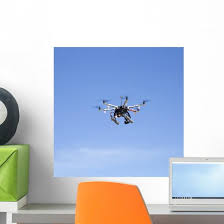 Octacopter Drone Flying Wall Decal Wallmonkeys Com